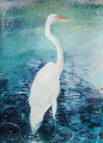 white crane, stephen linsteadt